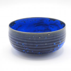 Lilokeramiek hoge chawan blauw