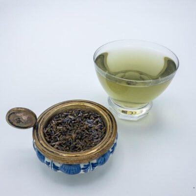 Lavendelthee in glas